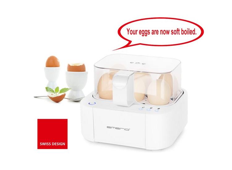 Emerio Eierkoker voor 6 eieren 400 W EB-115560