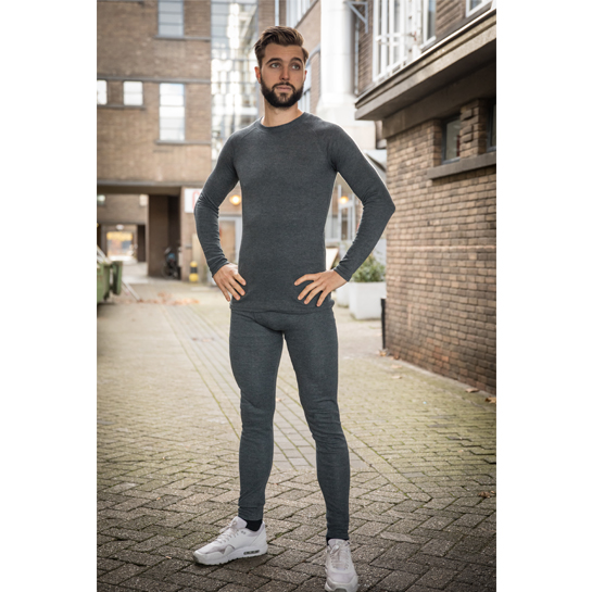 Thermokleding - Heren - Set van broek en shirt - Antraciet