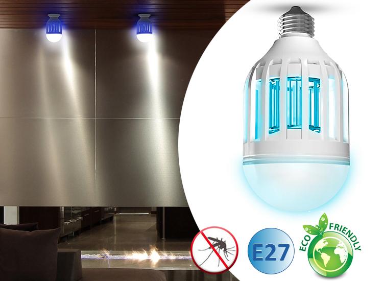 Afbeelding van Anti muggenlamp met normale E27 fitting 100% veilig voor kinderen en huisdieren
