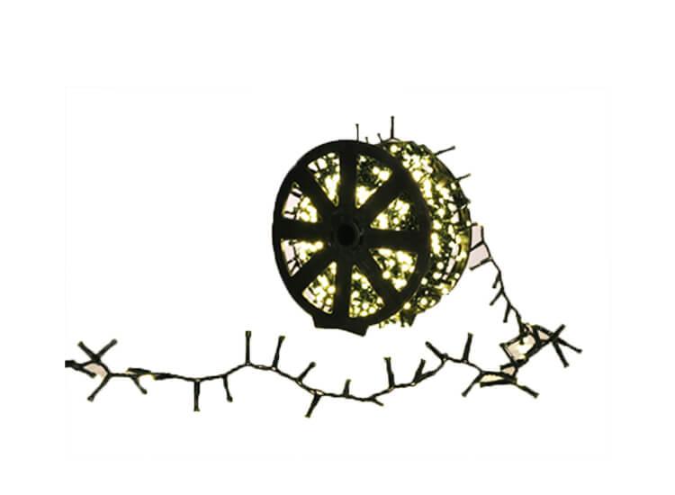 Afbeelding van 1.000 led lichtjes warm wit - Kerstverlichting voor binnen of buiten op handige kabelrol