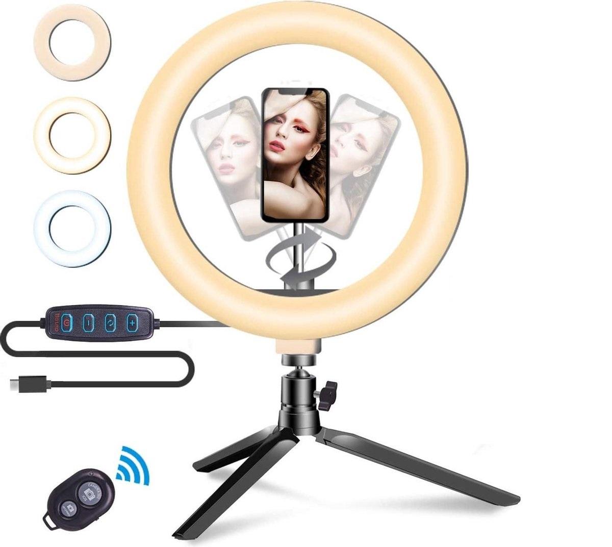 Soundlogic Selfie Ringlicht met Standaard - Statief