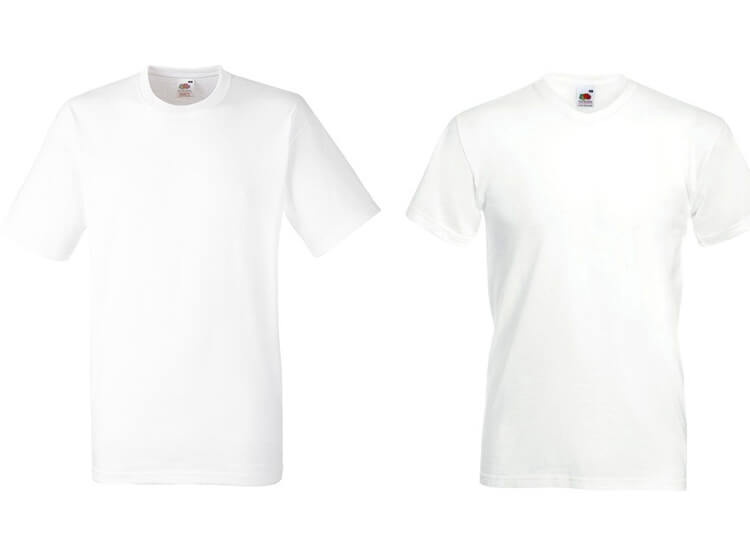 Afbeelding van 12 Witte Fruit of the Loom T shirts