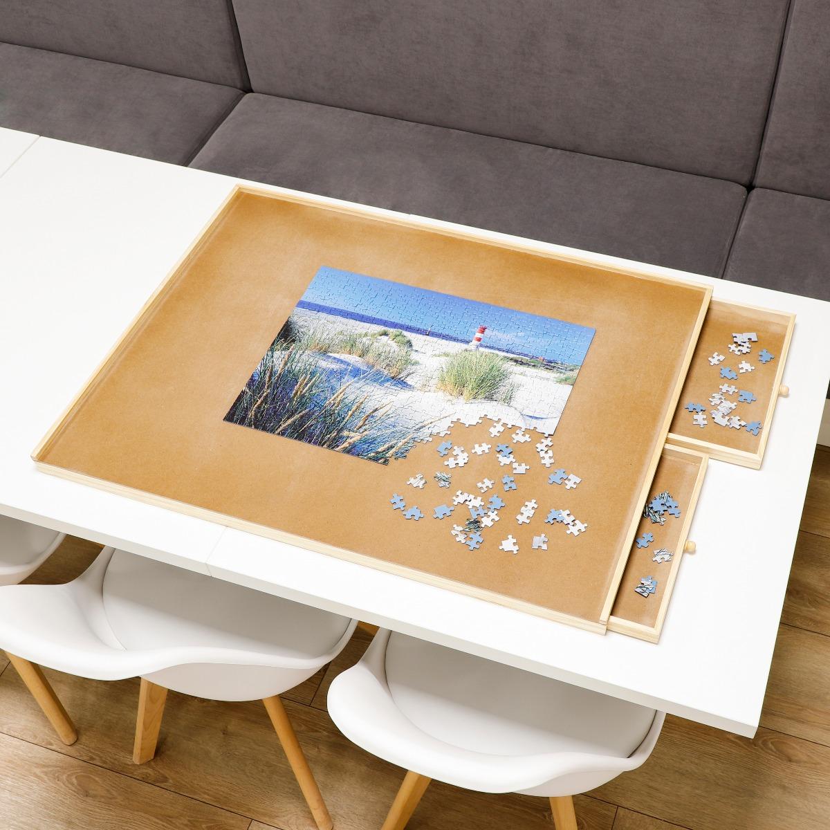 Puzzelplaat met lades - Gemakkelijk je puzzel opruimen - 90x67 cm