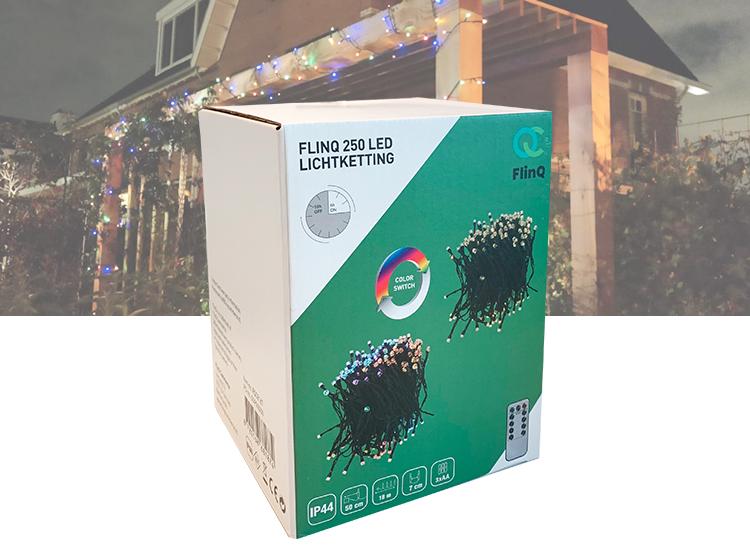 FlinQ 250 LED Lichtsnoer Kerstverlichting Kleurswitch Buiten