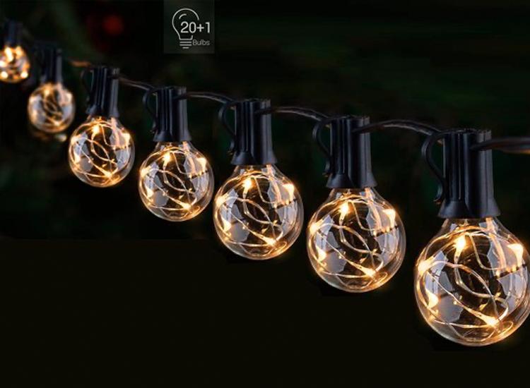 FlinQ Smart LED Lichtslinger Multicolor - Slimme Lichtketting - 20 Ledlampjes - Bediening met App