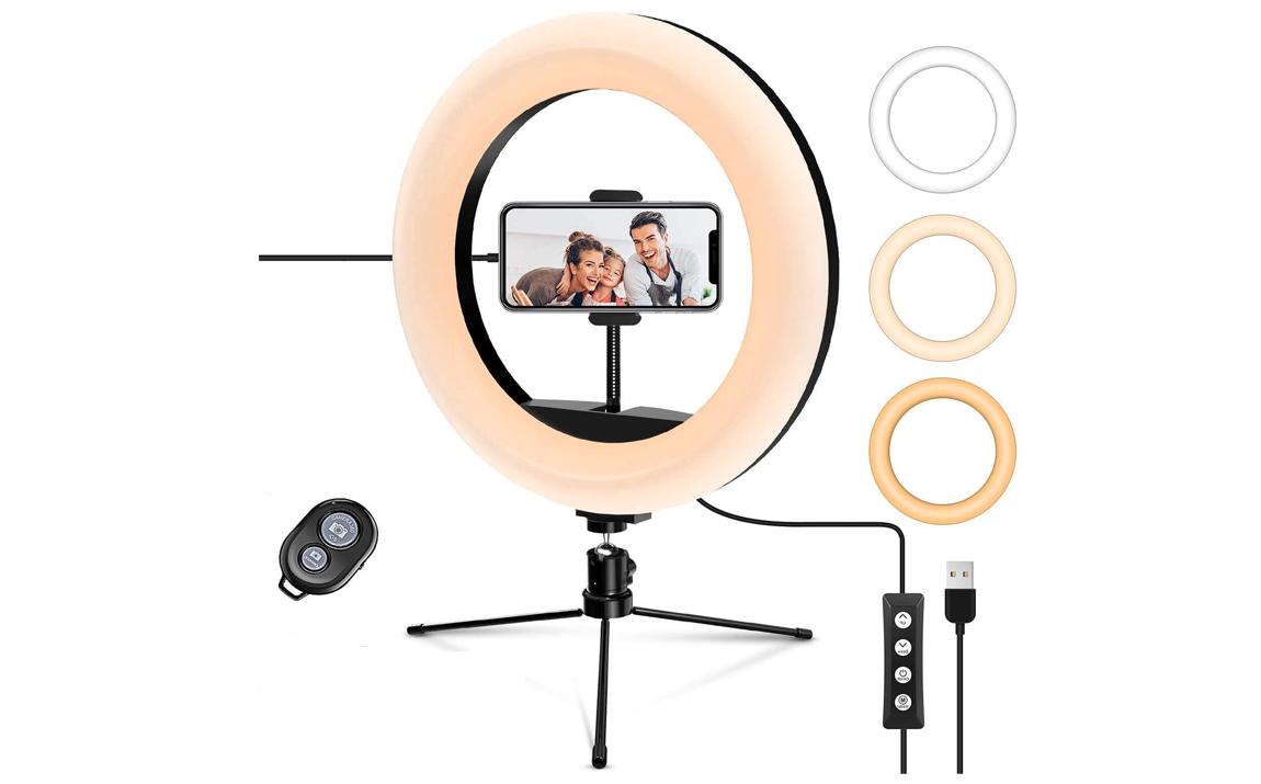 Tripod met 10 Inch verlichtingsring - Met microfoon, tripod en smartphonehouder - Met afstandsbedien