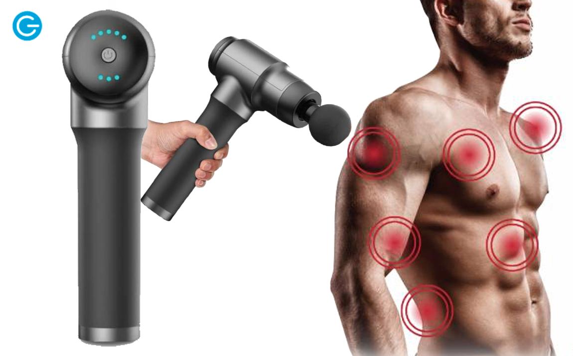 Foto Silvergear Massage Gun - Draadloos Massageapparaat - Oplaadbaar - 4 Opzetstukken - Zwart