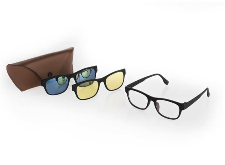 Afbeelding van 3 in 1 Zonnebril voor nachtzicht, UV bescherming en extra helderheid