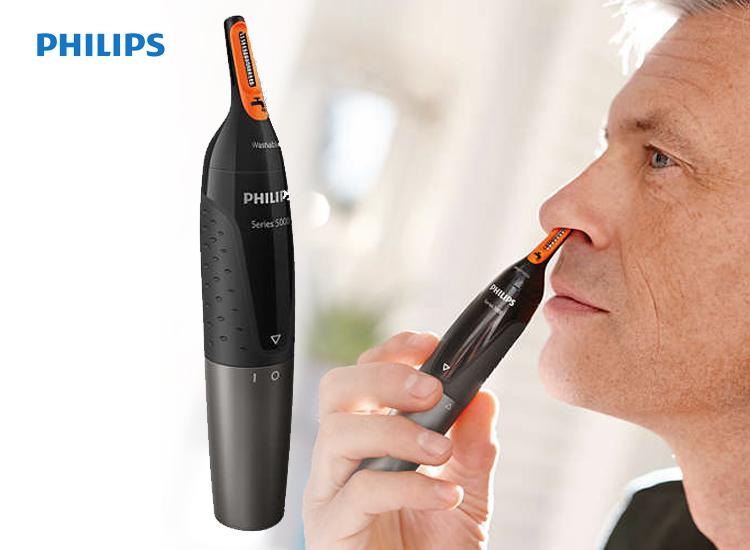 Philips neustrimmer series 5000 - Zachte trimmer voor neus, nek en bakkebaarden - NT5176/16