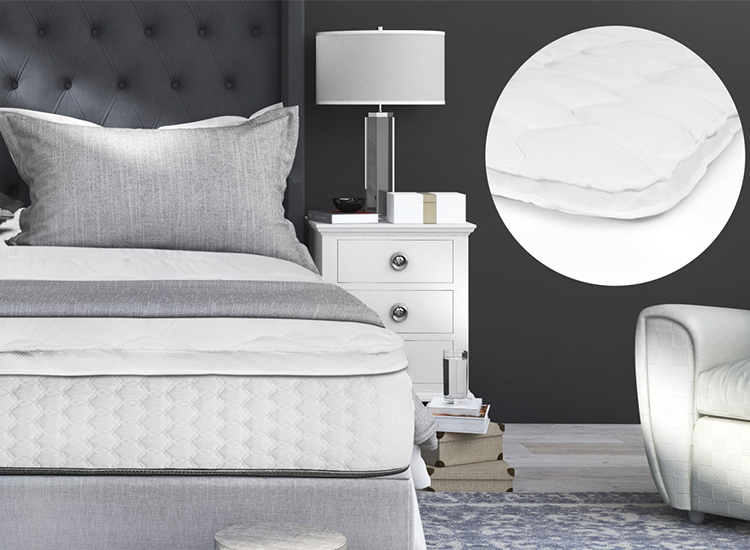 3D Air Hotel Topdekmatrassen - Zorgt voor een perfecte verdeling van je gewicht,3D ventilatie techniek; verkoelend, ventilerend en vochtregulerend,Verhoogt het ligcomfort van je huidige matras,Geen vervelende spleet meer tussen 2 matrassen