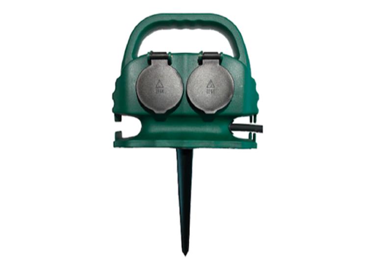 Tuinstekkerdoos met grondpin - 4 Stopcontacten - 5m Kabel