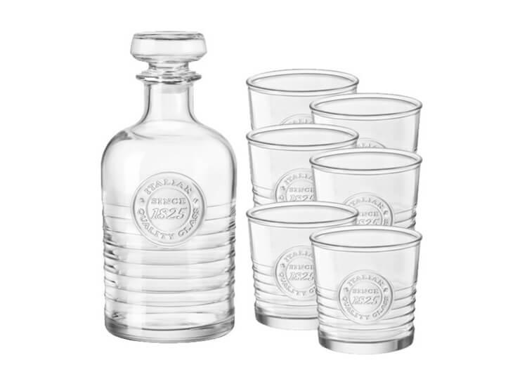 Afbeelding van Bormioli Rocco Whiskey set 1 karaf + 6 glazen