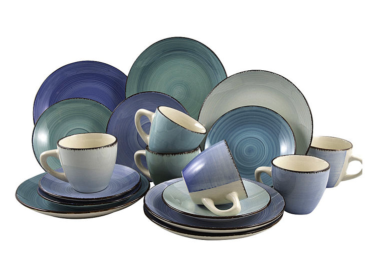 Koffieset Blue Curacao 18-delig