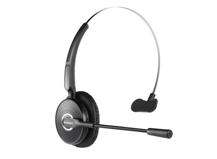Fedec A6 Windproof Bluetooth Headset met Microfoon