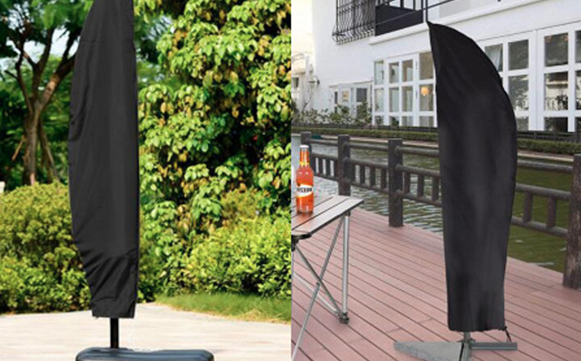 Parasolhoes Zwart - Met rits - 30 x 81 x 45cm (280 cm)