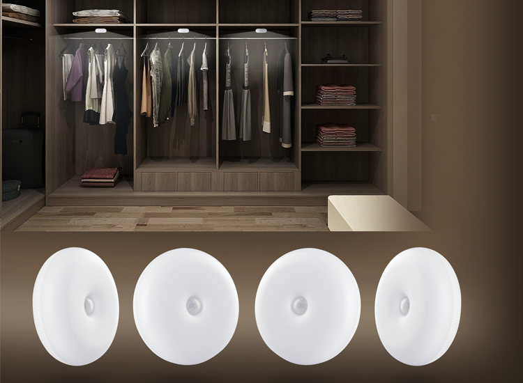 FlinQ oplaadbare indoor motion light - 4-pack