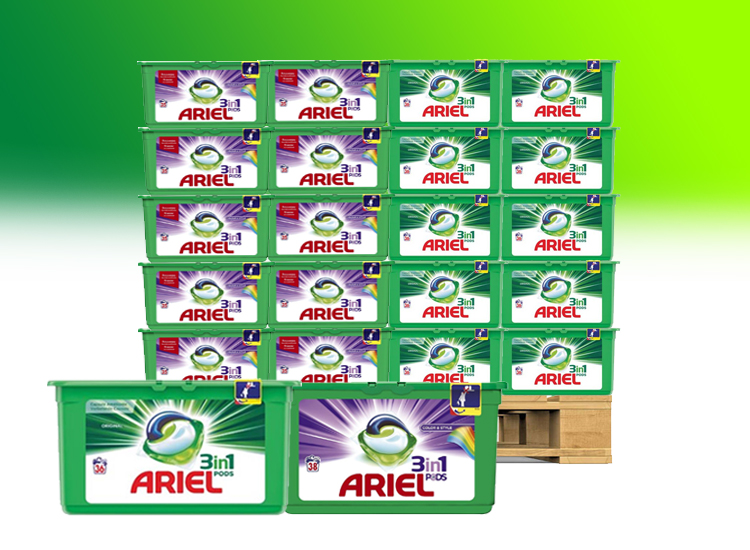 Ariel Pods 3-in-1 Kwartaalbox - Regular of Color- 120 pods
