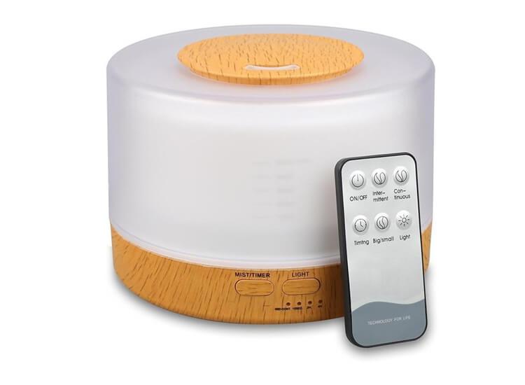 Afbeelding van 4-in-1 aroma diffuser: luchtbevochtiger, aromatherapie, luchtreiniger en lamp