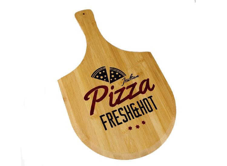 Afbeelding van Bamboe snijplank 'pizza' Duurzame en leuke