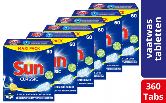 Sun Classic Citroen Vaatwastabletten - 360 tabs