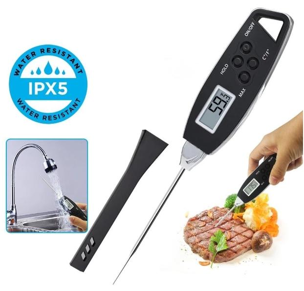 Spat Waterdichte Vleesthermometer - Voor O.A. Vlees, Kip of vis - Inclusief ECO functie
