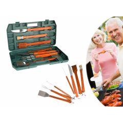 6-delige set voor de barbecue - In handige opbergkoffer