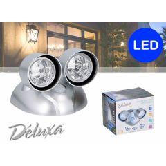 Déluxa sensor ledlamp met 2 spotjes - Draadloos en met bewegingssensor