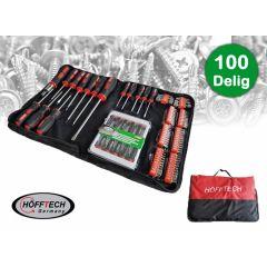 Hofftech gereedschapset 100-delig - Handig en hoogwaardige kwaliteit