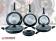 Herzberg HG-6010: 8-Delige Met Marmer Koekenpannenset - Zwart