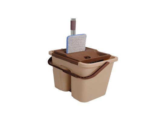 Cenocco CC-9070 vlakke schoonmaak mop met emmer - Bruin