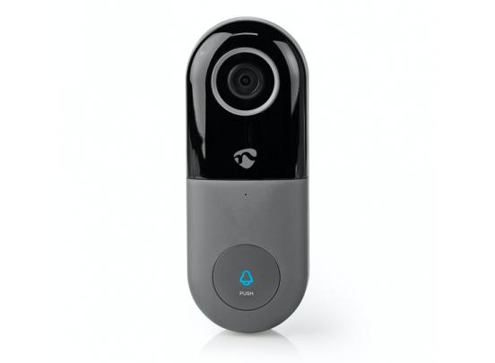 Nedis Oplaadbare Videodeurbel - HD 720P - Inclusief batterij - Bediening via App - MicroSD-Sleuf