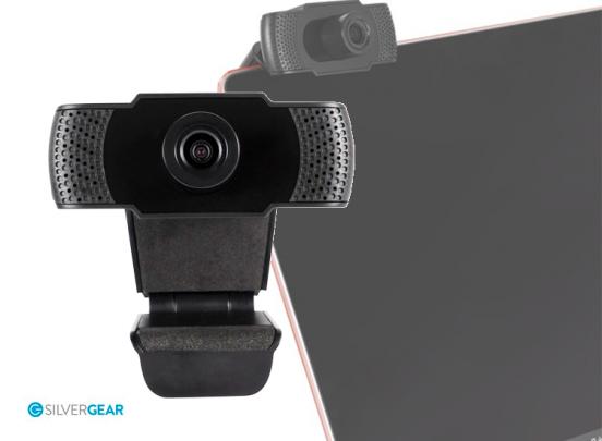 Silvergear HD Webcam 1080P - Ingebouwde Microfoon - Voor Computers en Laptops - Windows
