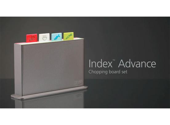 Joseph Joseph Index Advance Snijplankenset - 4 stuks - Incl. Houder + 4 Messen