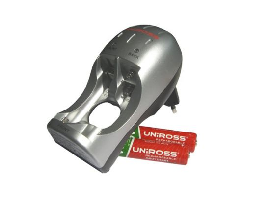 Uniross compact Mini - 2100 mAh - Oplader inclusief 4xAA batterijen 1+1 Gratis