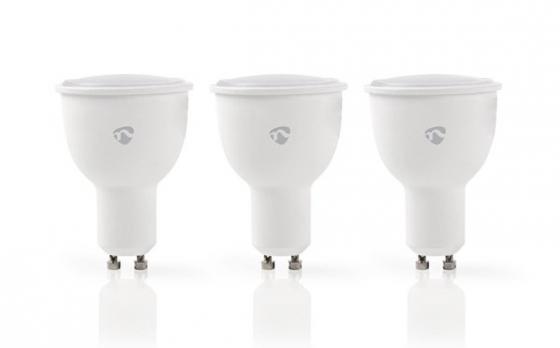 Nedis WIFILW30WTGU10 Slimme Wi-Fi LED-Lampen (Warm- tot Koud-Wit Dimbaar, GU10-fitting, 3-Pack)