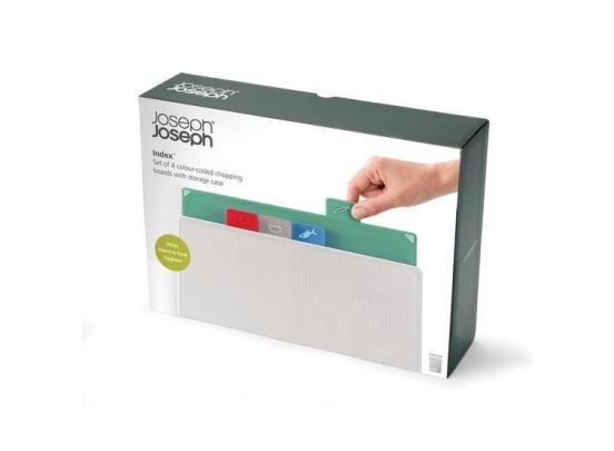 Joseph Joseph Index Snijplanken Regular - Polypropyleen/Kunststof - Set van 4 Stuks - Zilver