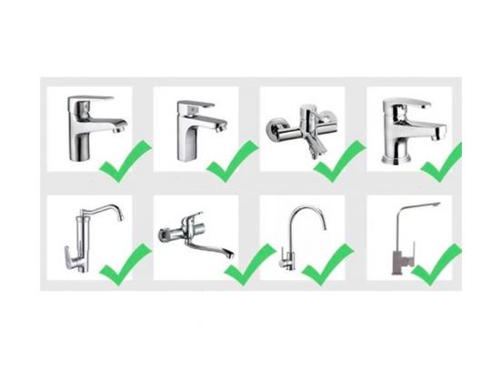 Flexibel kraan opzetstuk - 3 standen - 360 graden draaibaar