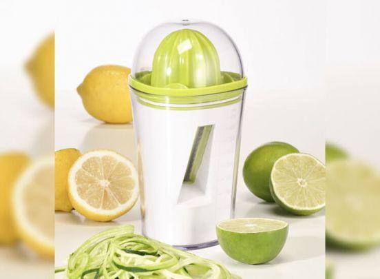 2-in-1 Spiraalsnijder & Citruspers - 450 ml opvangbak