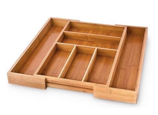 Bamboe Besteklade - Uitschuifbaar - 48 x 37 x 5,3 cm