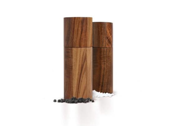 Ad Hoc Peper of Zoutmolen - Acaciahout - Ø5 x14 cm - Bruin