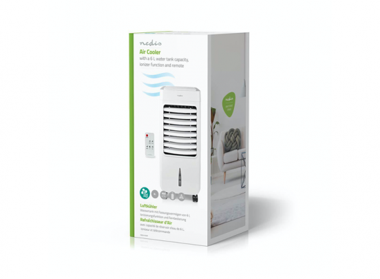 Nedis Mobiele Aircooler | Watertankcapaciteit: 6 l | 3 Snelheden | 300 m³/h | Zwenkfunctie | Afstandsbediening |