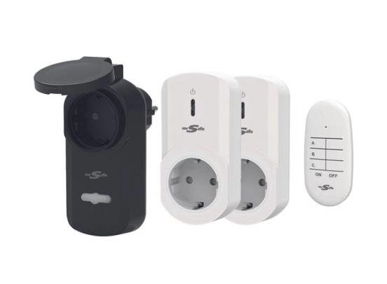 Mr Safe Draadloze stopcontactenset - met afstandsbediening