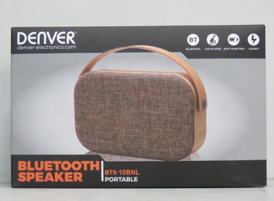 Denver BTS-10BNL Bluetooth Speaker - Houtlook