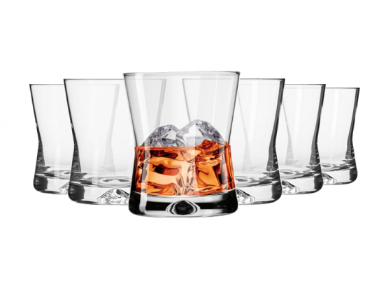 Krosno X-line Collection Whiskyglazen - Set van 6 - 290ml