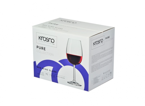 Krosno Pure Collection Rode Wijnglazen - Set van 6 - 350ml