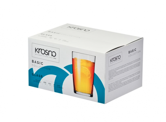 Krosno Basic Collection Frisdrankglazen - Set van 6 - 250ml