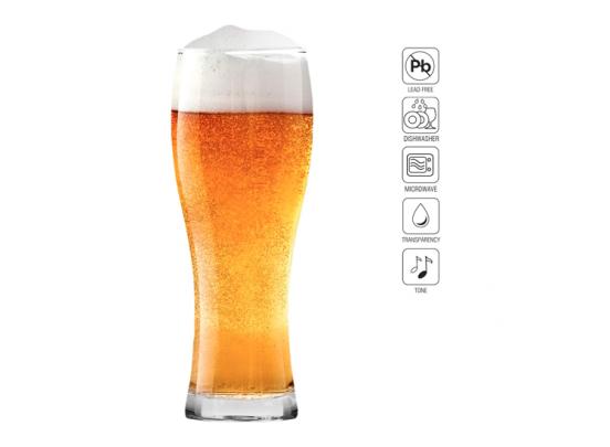 Krosno Lange Bierglazen - Set van 6 - 500ml