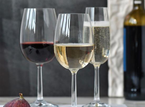Krosno Pure Collection Witte Wijnglazen - Set van 6 - 250ml