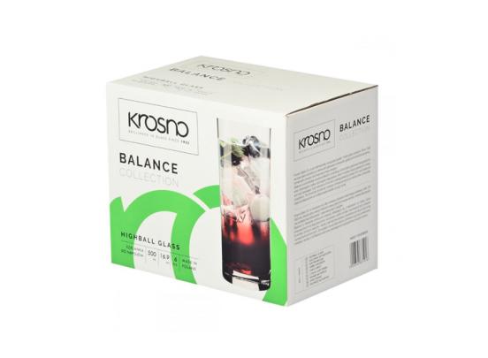 Krosno Balance Collection - Longdrinkglazen - Set van 6 - 500ml