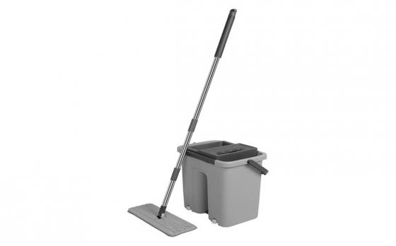 Cenocco CC-9070 vlakke schoonmaak mop met emmer - Grijs